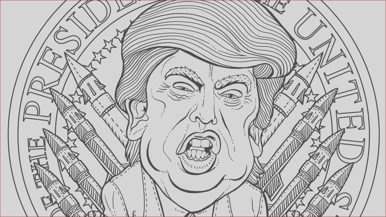 most terrifying adult coloring book page