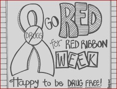 Red Ribbon Week Coloring Pages Unique Images Say No to S Coloring and Activity Book