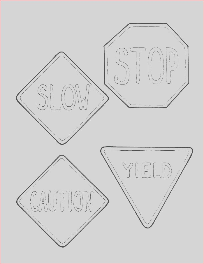 road signs coloring pages