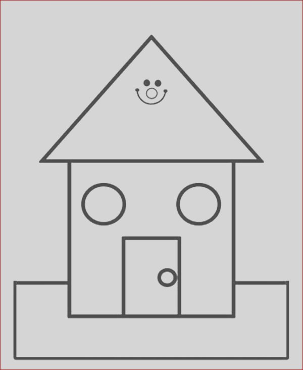 kids draw a school house coloring page