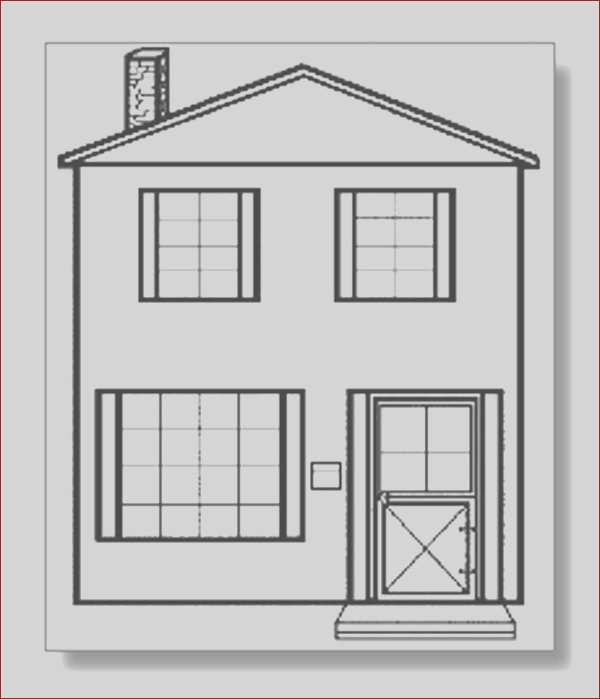 school house coloring page