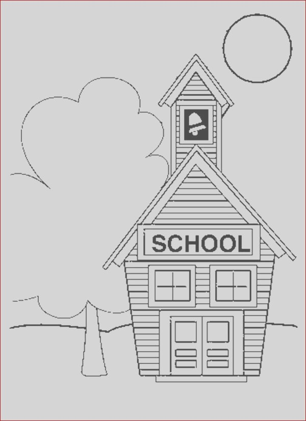small school house coloring page
