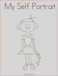 Self Portrait Coloring Page Luxury Gallery My Self Portrait Coloring Page Twisty Noodle