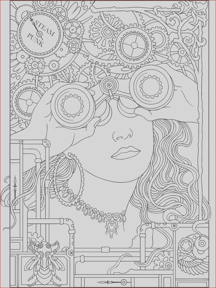 colouring steampunk