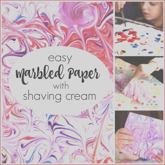 marbled paper shaving cream food colouring