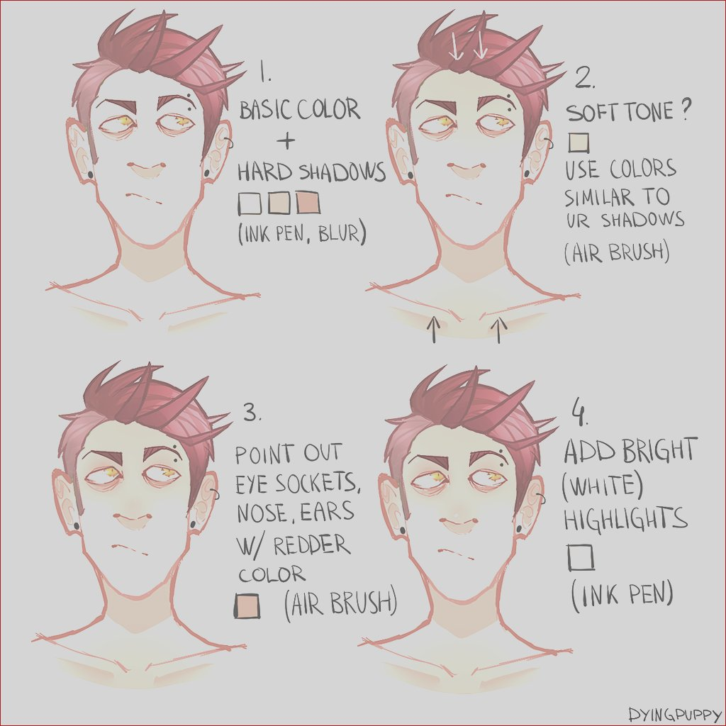 skin coloring tutorial by dyingpup