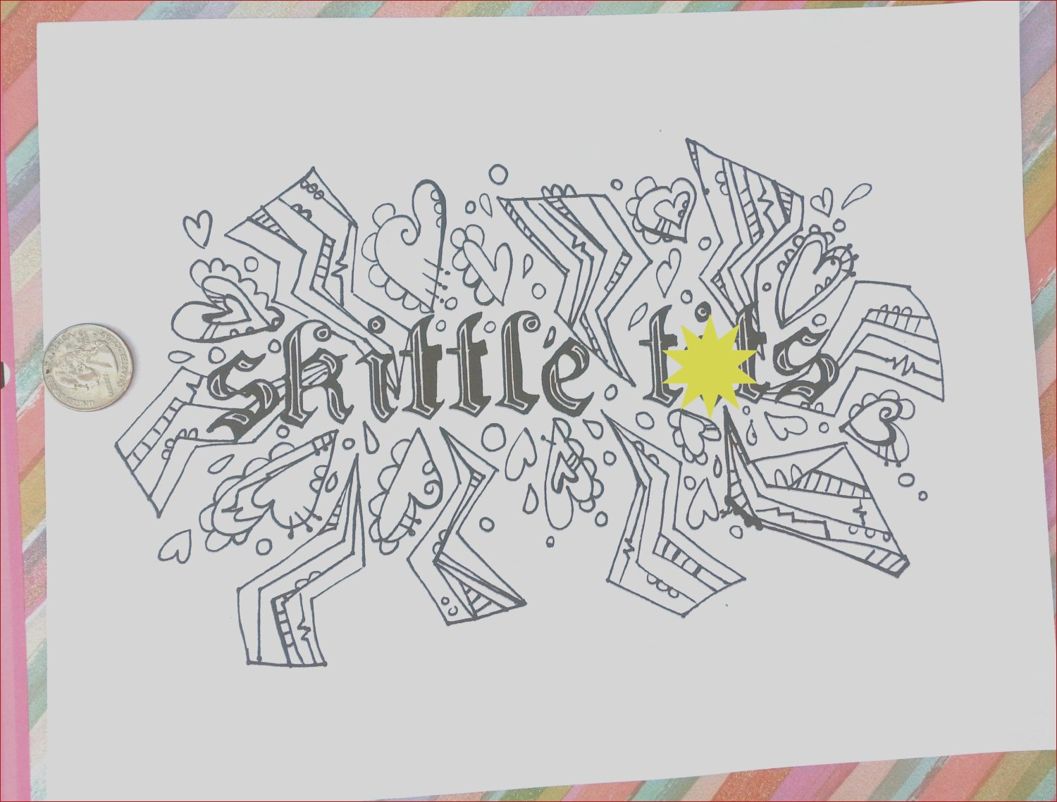 swear word coloring book pages skittle