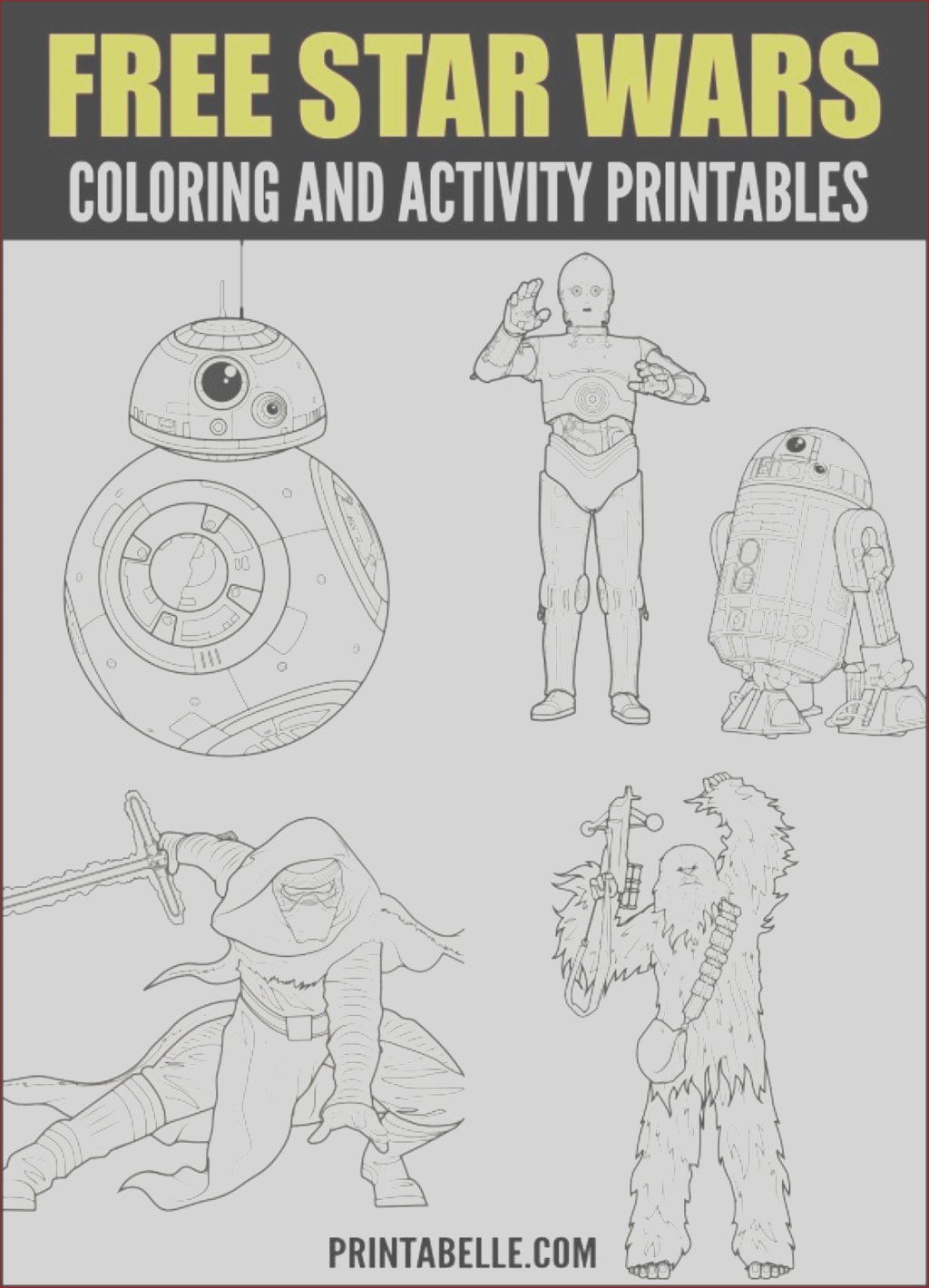 free printable star wars activity pages