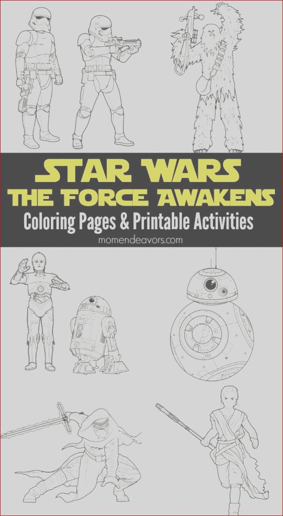 star wars the force awakens printable activities coloring pages