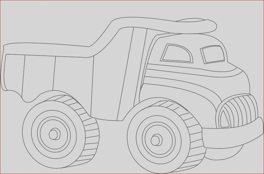 trucks large cars coloring pages