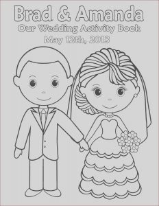 Wedding Coloring Pages Free Inspirational Stock Printable Personalized Wedding Coloring Activity by