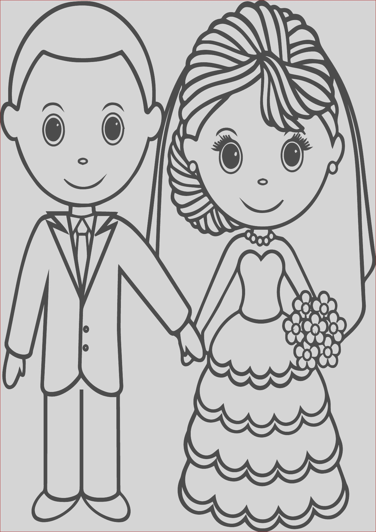 wedding coloring pages free