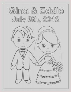 Wedding Coloring Pages Free Unique Stock Personalized Printable Bride Groom Wedding Party Favor