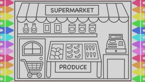 Where to Find Food Coloring In Grocery Store Cool Photography How to Draw A Supermarket Grocery Store for Kids