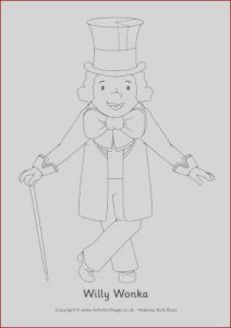 Willy Wonka Coloring Awesome Image Willy Wonka Colouring Page
