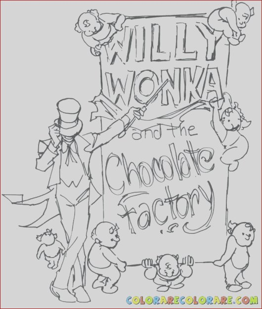 charlie and the chocolate factory coloring pages