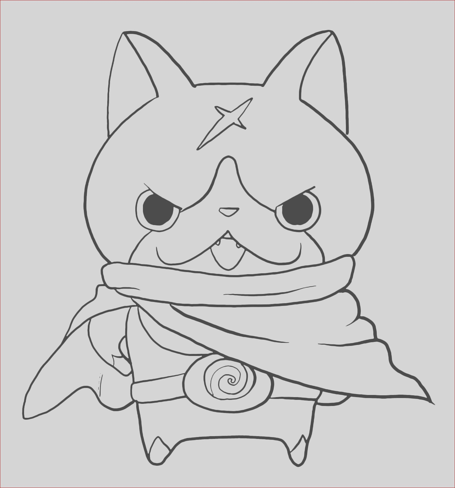 coloring pages yo kai watch hovernyan sketch templates