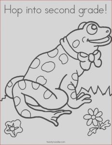 2nd Grade Coloring Pages Beautiful Stock Hop Into Second Grade Coloring Page Twisty Noodle