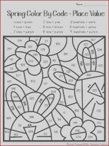 2nd Grade Coloring Pages Best Of Collection Spring Coloring Pages Color by Code Second Grade by Mrs