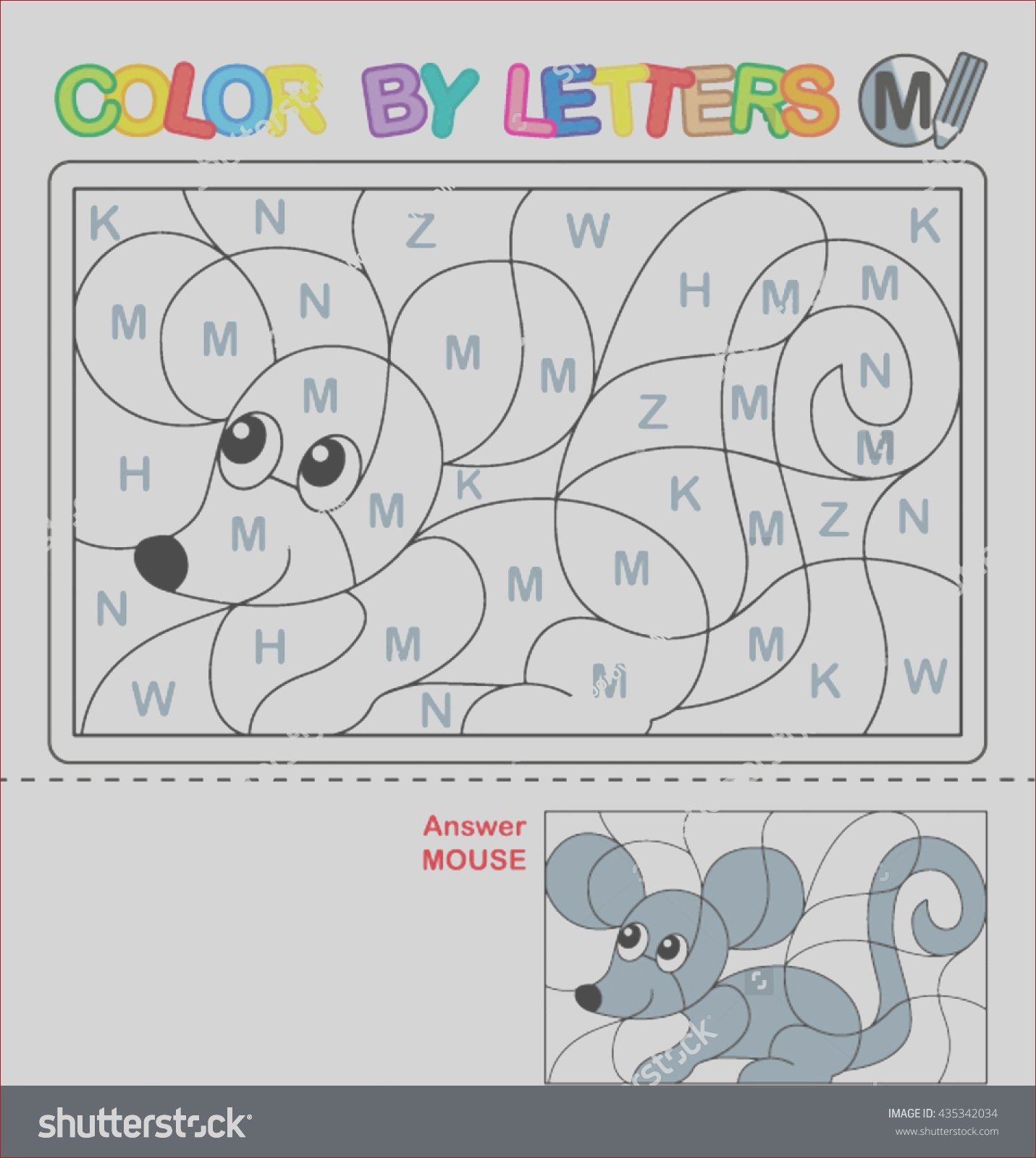 abc coloring book kids color by
