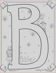 """Bible Coloring Pages Free Inspirational Photos """"b is for Bible"""" Coloring Page"""