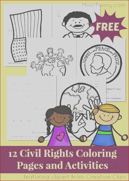 civil rights coloring by number pages