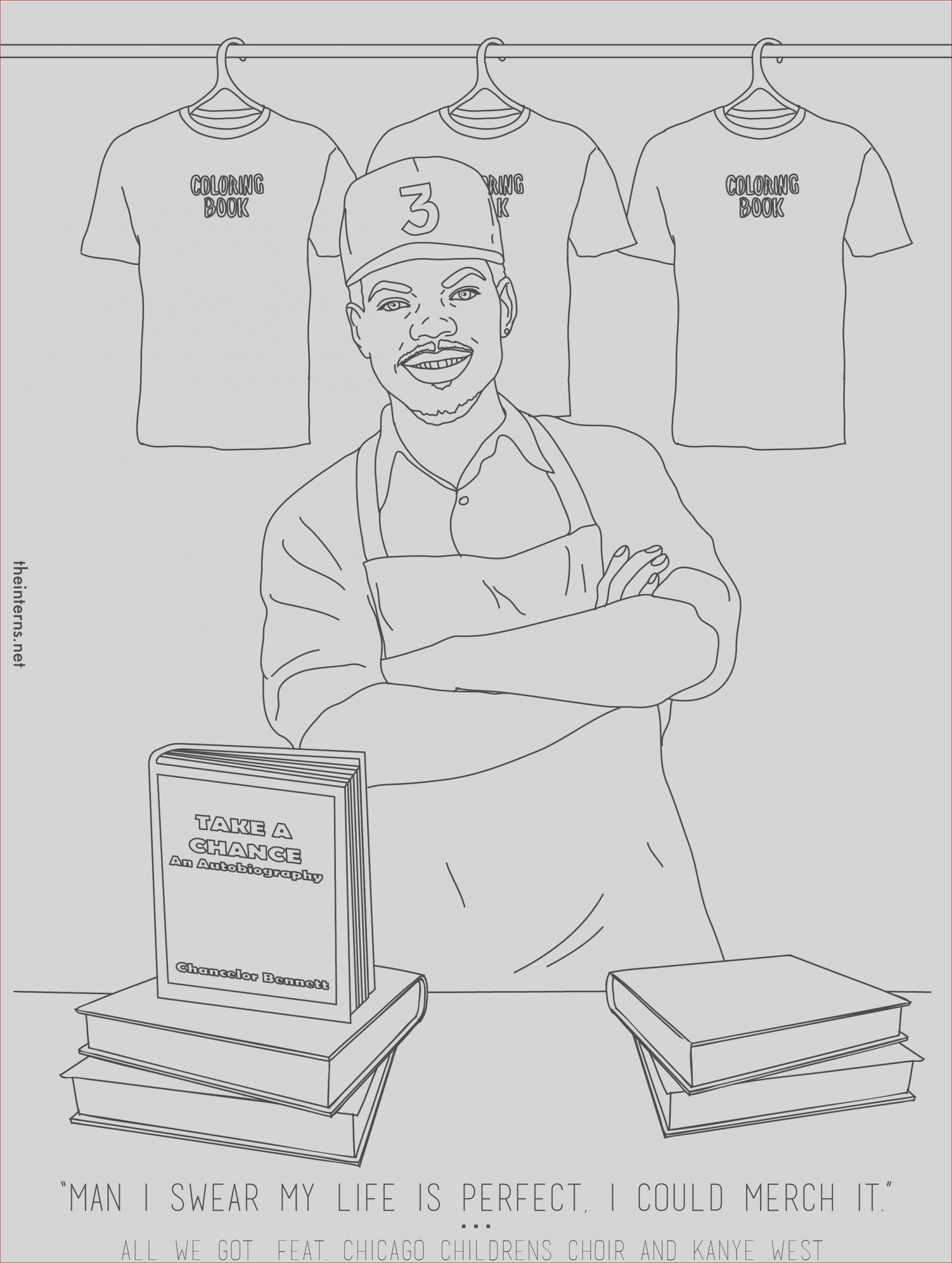 heres very literally a chance the rapper coloring book for you to colour in