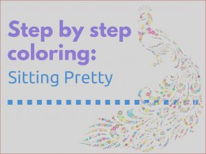 Coloring Book Of the Month Club Awesome Collection Step by Step Coloring Sitting Pretty the Coloring Book