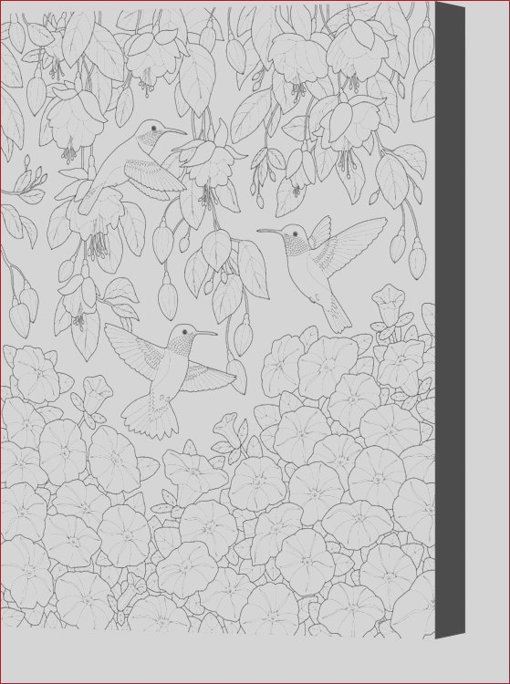 hummingbirds and flowers coloring page crista forest canvas print