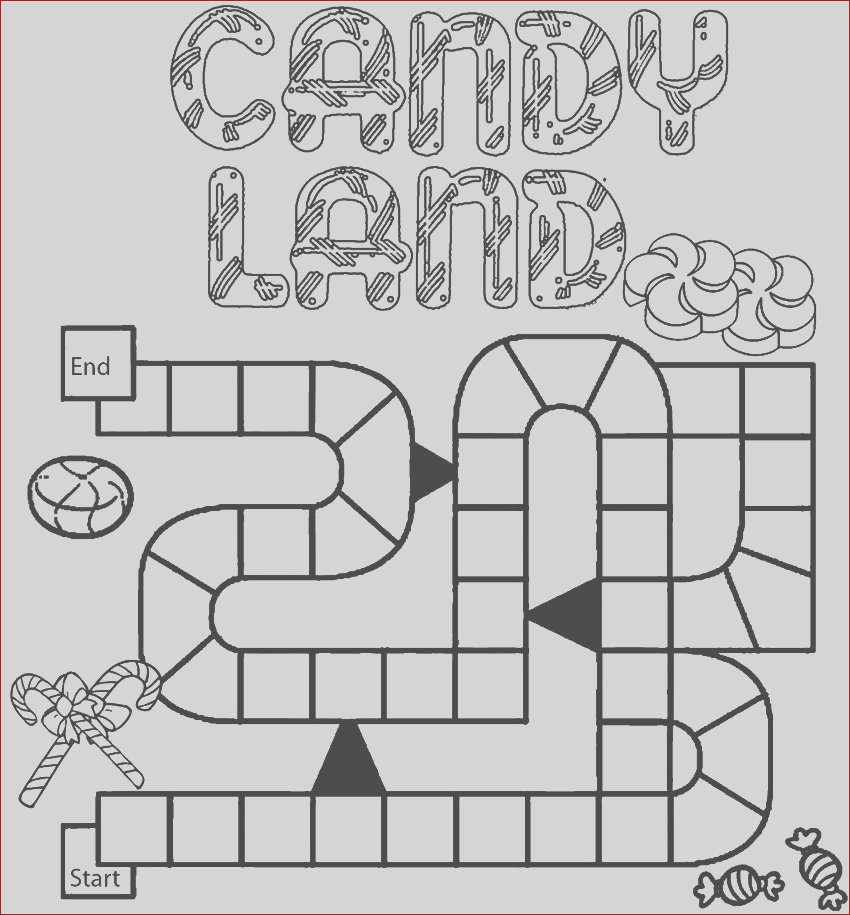 candyland coloring pages