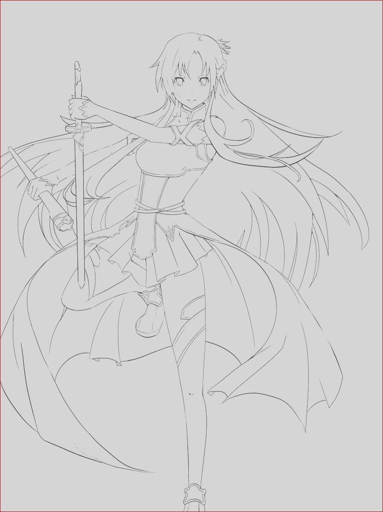 sword art online coloring pages