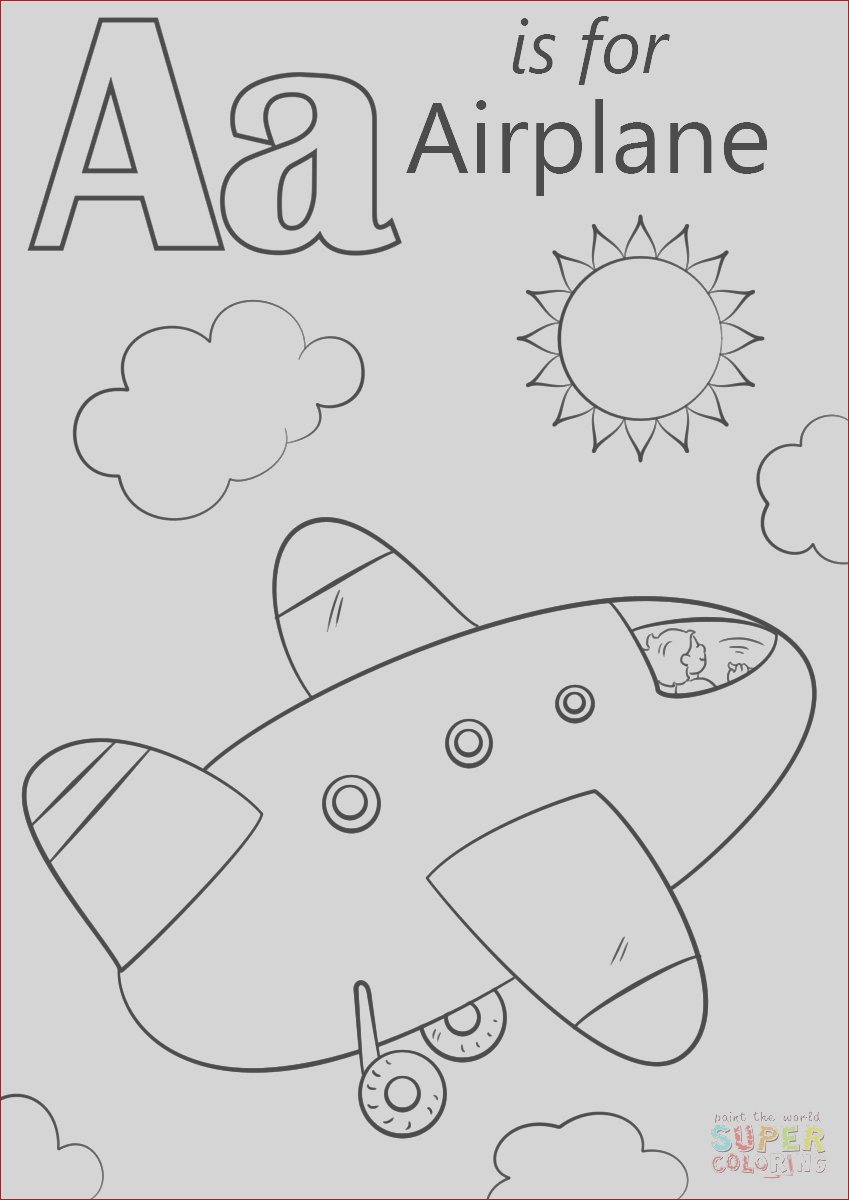 letter a is for airplane 0
