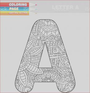 Coloring Letter A Cool Image Adult Coloring Book Capital Letters Hand Drawn Template