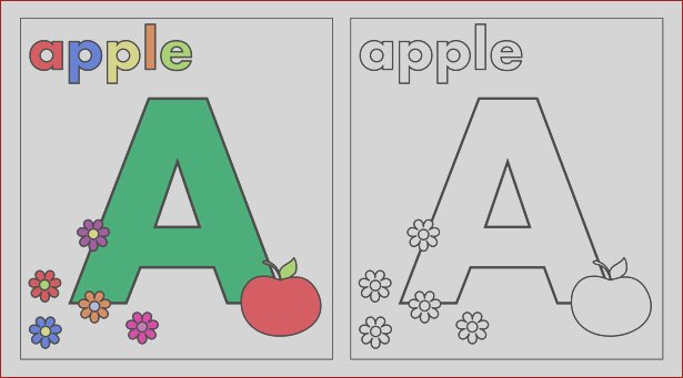 view image image= &picture=letter a coloring page