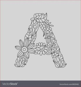 Coloring Letter A Unique Images Letter A Coloring Book for Adults Royalty Free Vector Image