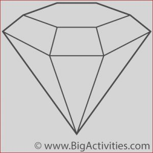 Diamond Coloring Page Beautiful Stock Rocks and Minerals Hard Word Search Diamond