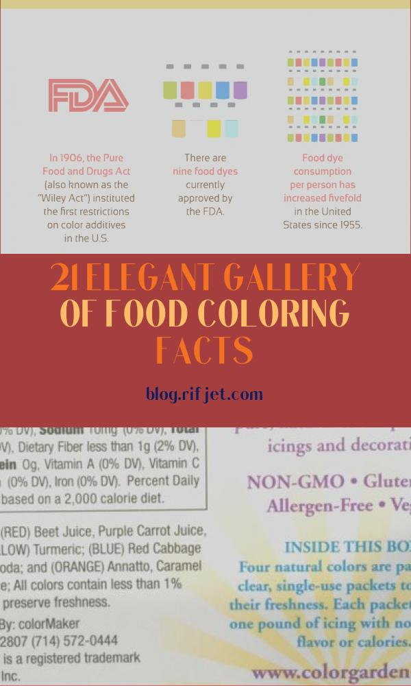 Food Coloring Facts Awesome Collection Golden Opportunity How to Make Your Own Safe Food