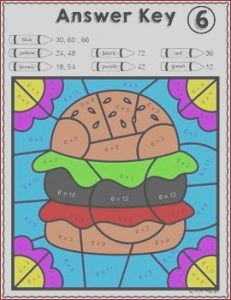 Food Coloring Facts New Gallery Food Color by Number Multiplication Review Facts 6 7 8
