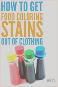 Food Coloring Stain Removal Cool Gallery Get Food Coloring Stains Out Of Clothing even Old Stains