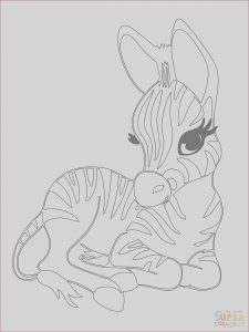 Free Baby Animal Coloring Pages Elegant Photos Cute Baby Zebra Coloring Page