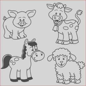 Free Baby Animal Coloring Pages Inspirational Photos Baby Farm Animal Coloring Pages with Images