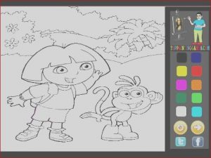 Games Coloring Elegant Photography Dora the Explorer Coloring Games Kids Coloring Games