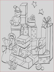 Gifts Coloring Pages Awesome Collection Christmas Gift Drawing at Getdrawings