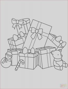 Gifts Coloring Pages Best Of Photos Christmas Gifts Coloring Page