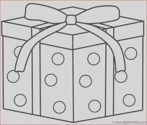 Gifts Coloring Pages Cool Collection Christmas Gift with Dots Coloring Page Christmas