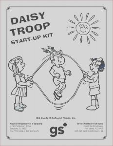 Girl Scout Coloring Awesome Stock Daisy Girl Scouts Coloring Pages Free Coloring Home