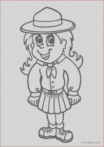 Girl Scout Coloring Inspirational Photos Free Printable Girl Scout Coloring Pages for Kids