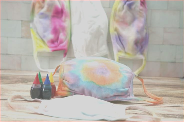 how to make tie dye masks with food coloring