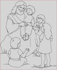 Jesus Coloring Pages for Kids Beautiful Photos Jesus Loves Me Jesus Love Me and the Other Children too