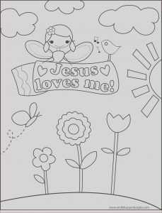 Jesus Coloring Pages for Kids Cool Gallery Coloring Sheet Jesus Loves Me Girl